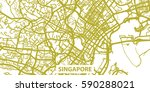 detailed vector map of... | Shutterstock .eps vector #590288021