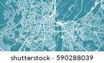 detailed vector map of belfast  ... | Shutterstock .eps vector #590288039