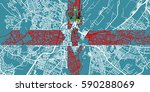 detailed vector map of belfast... | Shutterstock .eps vector #590288069