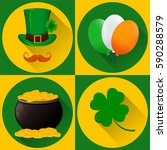 st. patrick's day set of icons. ...   Shutterstock .eps vector #590288579