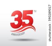 35 years anniversary...   Shutterstock .eps vector #590289017
