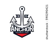 anchor business logo   emblem... | Shutterstock .eps vector #590290421