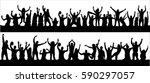 crowd at concert   | Shutterstock .eps vector #590297057