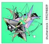 vector of triangle fractal... | Shutterstock .eps vector #590298809