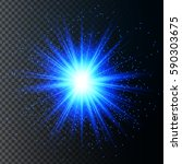 a bright flash or explosion to... | Shutterstock .eps vector #590303675