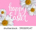happy easter spring holiday... | Shutterstock .eps vector #590309147