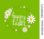 happy easter spring holiday... | Shutterstock .eps vector #590309171