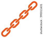 chain vector icon. flat orange... | Shutterstock .eps vector #590311631