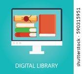 modern illustration of online... | Shutterstock . vector #590315951