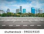 empty space in city park... | Shutterstock . vector #590319335