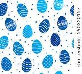 seamless pattern with easter... | Shutterstock .eps vector #590320157
