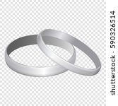 silver metal wedding rings... | Shutterstock .eps vector #590326514
