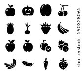 ripe icons set. set of 16 ripe... | Shutterstock .eps vector #590328065