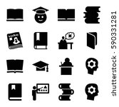 learning icons set. set of 16... | Shutterstock .eps vector #590331281