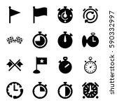 finish icons set. set of 16... | Shutterstock .eps vector #590332997