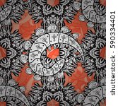 seamless vintage pattern on... | Shutterstock .eps vector #590334401