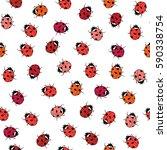 Ladybugs Seamless Pattern....