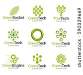 collection of logo templates.... | Shutterstock .eps vector #590339669