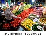 souk in darband  near imamzadeh ...   Shutterstock . vector #590339711