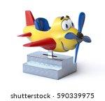 Kiddie Ride Cartoon Airplane 3...
