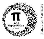happy pi day. vector... | Shutterstock .eps vector #590342669