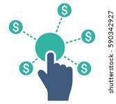 click financial network vector...