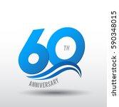60 years anniversary... | Shutterstock .eps vector #590348015