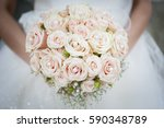 bridal bouquet of flowers | Shutterstock . vector #590348789