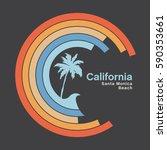 california sun typography  tee... | Shutterstock .eps vector #590353661