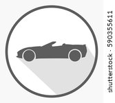flat grey convertible car icon... | Shutterstock .eps vector #590355611