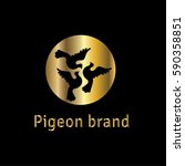 pigeons vector logo design... | Shutterstock .eps vector #590358851