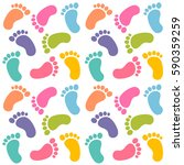 background with colorful baby... | Shutterstock . vector #590359259