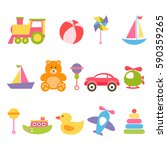 set of colorful baby toys.... | Shutterstock . vector #590359265