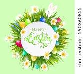 vector background for easter...   Shutterstock .eps vector #590360855