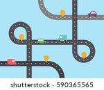 infographic template. crossway  ... | Shutterstock .eps vector #590365565