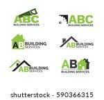 building   construction logo set | Shutterstock .eps vector #590366315