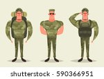 cartoon character   army... | Shutterstock .eps vector #590366951