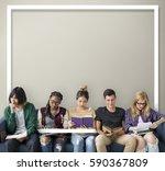 creativity together idea... | Shutterstock . vector #590367809