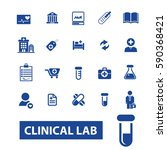 clinical lab icons | Shutterstock .eps vector #590368421