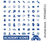 academy icons | Shutterstock .eps vector #590368511