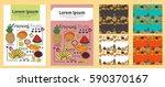 creative trendy cards set.... | Shutterstock .eps vector #590370167