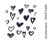 freehand simple drawn set of... | Shutterstock . vector #590371685