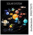 "vector poster ""solar system""... | Shutterstock .eps vector #590375075"