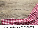 Red Checkered Napkin On An Old...
