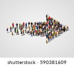 large group of people crowded... | Shutterstock .eps vector #590381609