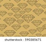 precious stones black on brown... | Shutterstock .eps vector #590385671
