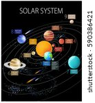 "vector poster ""solar system""... | Shutterstock .eps vector #590386421"