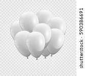 3d realistic whitel bunch of... | Shutterstock .eps vector #590386691