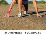 female runner ready for... | Shutterstock . vector #590389169