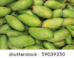 Fresh and green Mango background - stock photo